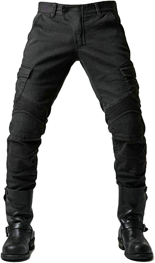 YuanDian Herren Slim Fit Motorrad Jeans Mit Protektoren Knie und H/üftprotektoren Stretch Slim Fit Denim Motorradhose Anti-Fall Straight Fit Cargo Motorradjeans Schutzhose