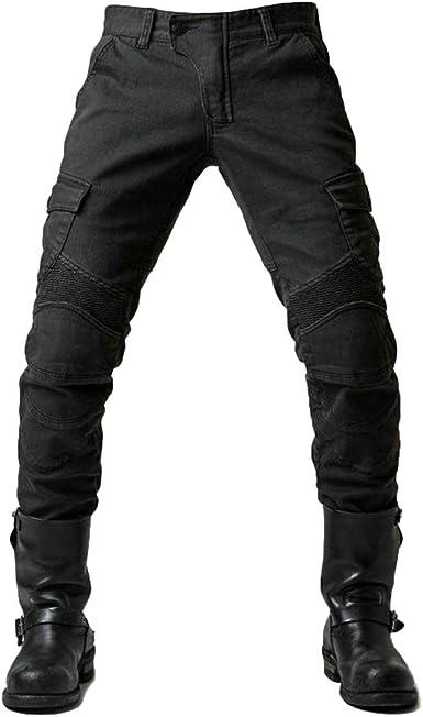Yuandian Hombre Slim Fit Jeans De Moto Pantalon Vaquero Moto Con Protecciones De Rodilla Y Cadera Pantalones De Motociclistas Cargo Recto Pantalones Protectores Tejanos Moto Amazon Es Ropa Y Accesorios