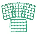 Bel-Art F18745-2000 Switch-Grid Test Tube Rack Grids; For 16-20mm Tubes, Green (Pack of 4)