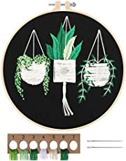 MWOOT Full Range Embroidery Starter Kit, DIY Cross Stitch Stamped Embroidery Kit for Adults Beginner Starter