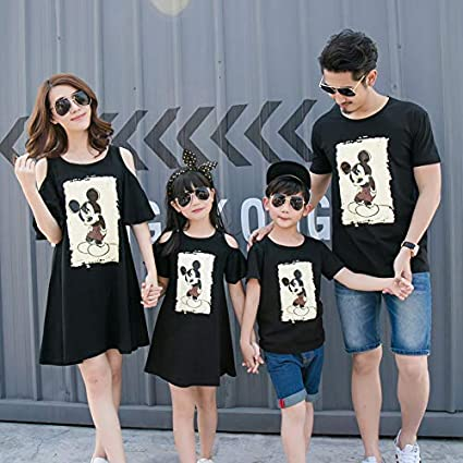 55f2c0ff Family Matching Outfits Family Clothing Mother and Daughter Dress Clothes  Father and Son T Shirts Family Matching Clothes CP19 : Black, Mom S:  Amazon.in: ...