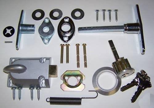 Building /& Hardware Garage Door Lock Cylinder /& T Handle Kit
