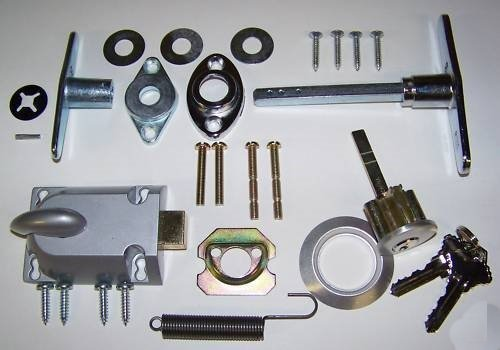 Building & Hardware Garage Door Lock Cylinder & T Handle Kit