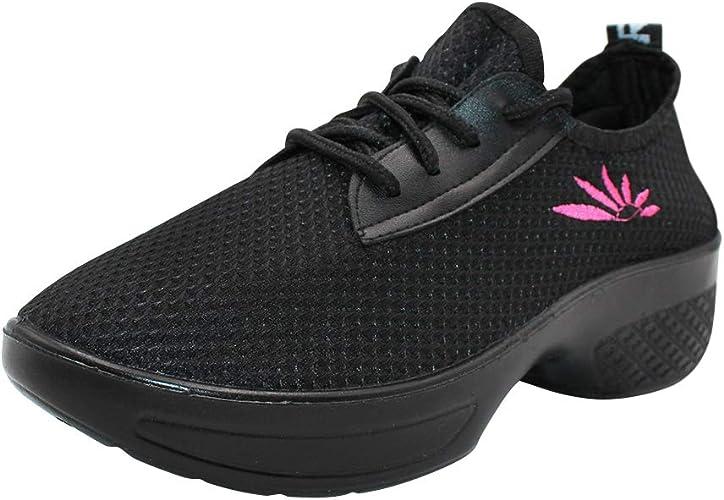 uirend Chaussures de Sport Danse Femme Maille à Lacets Gym