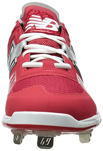New Balance Men's L3000V2 Metal Low Baseball Shoe,Grey/Black,10 2E US Red/Silver
