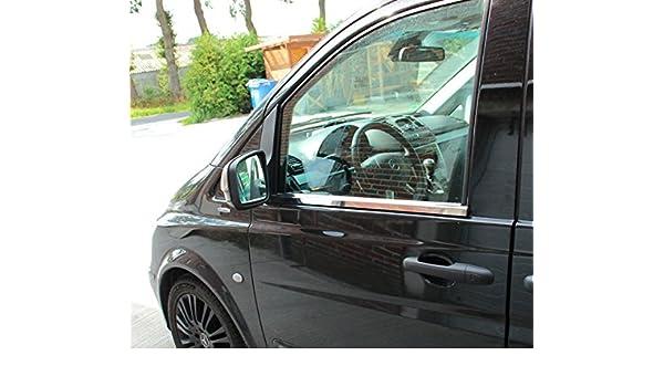 Molduras de acero inoxidable para ventanilla, Mercedes W639 Vito, Viano, 2003-2014: Amazon.es: Coche y moto