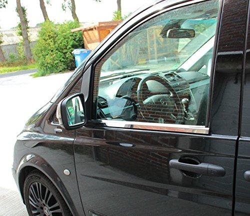 2014 Moulure de fen/être en Acier Inoxydable Chrom/é Mercedes W639 Vito Viano 2003