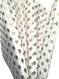 Printed Tissue Paper for Gift Wrapping with Design (GOLD FLEUR DE LIS), 24 Large Sheets (20x30)