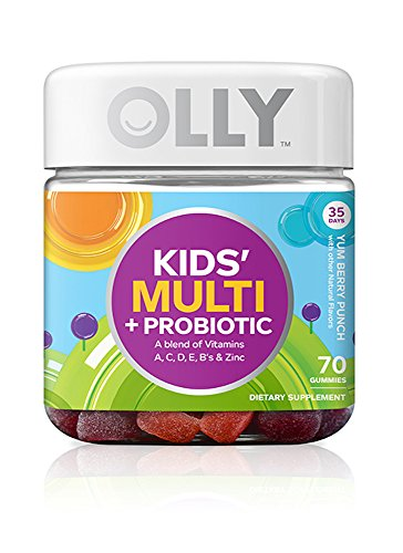 OLLY Kids Multi-Vitamin and Probiotic Gummy Supplements, Yum Berry Punch, 70 Count (Omega Yums compare prices)