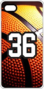Basketball Sports Fan Player Number 34 White Plastic Decorative iPhone 5c Case