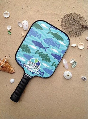 Eastport Pickleball Paddle, USAPA Approved, Green Fish in Blue Sea - Pickleball's Poshest Paddle by Eastport Pickleball