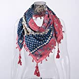 "Womens Scarf Plaid Blanket Scarf Women Checked Shawl Long Scarves Warm Tartan by Qisc 41.73"" 41.73"" (Pink)"