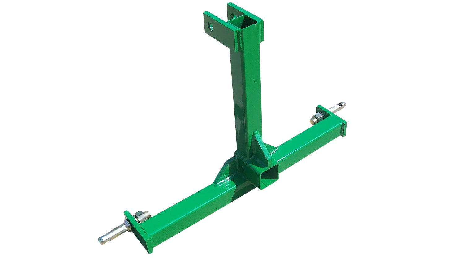 Heavy Duty 3 Point Category 1 Drawbar Receiver Hitch Tow Bar - Compatible with John Deere Green by M.G.E. Products
