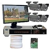 GW Security VD4CHH3 4 CH HD-SDI DVR 4 x 1/3-Inch 2.1 Megapixel CMOS Camera, 1080P 2.8 to 12 mm Lens, 72-IR LED, 196-Feet IR Distance