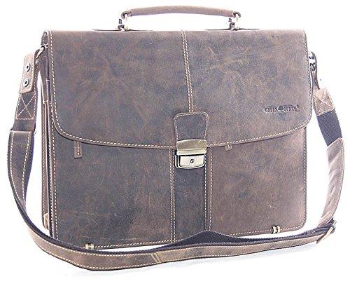 LEDER - Aktentasche, Lehrertasche, Dokumententasche, Bürotasche, Schultasche, Arbeitstasche, Umhängetasche, Schultertasche