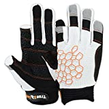 MRX BOXING & FITNESS Sailing Gloves Sticky Palm Gripy Glove Yachting Kayak Dinghy Fishing 2 Cut Finger (White 2-XL)