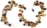 """CraftMore Pinecone Garland with Stars and Lights 72"""""""