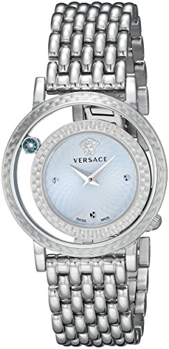 Versace Women s VDA030014 Venus Stainless Steel Bracelet Watch with Blue Dial