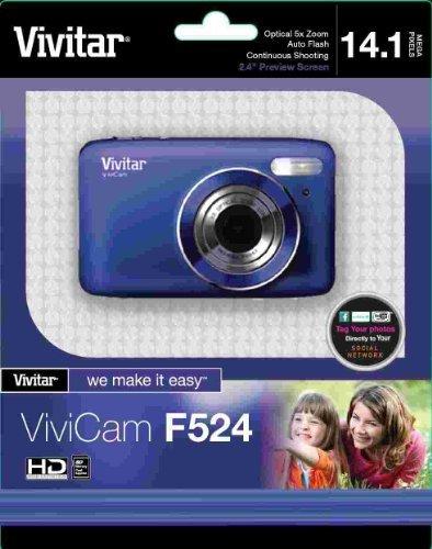 Vivitar 14.1MP Digital Camera with 2.7-Inch TFT - Blue (VF524-BLU-TA) [並行輸入品]   B07F5KKJXM