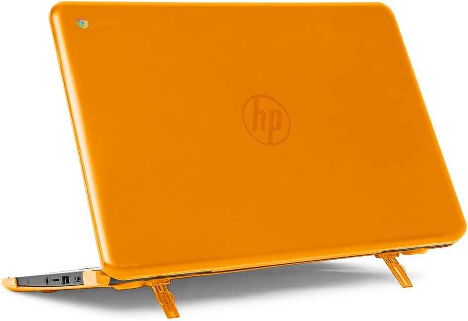 "mCover Hard Shell Case for 14"" HP Chromebook 14 G5 / 14-CA / 14-DB Series (NOT Compatible with Older HP C14 G1 / G2 / G3 / G4 Series) laptops (HP C14-G5 Orange)"