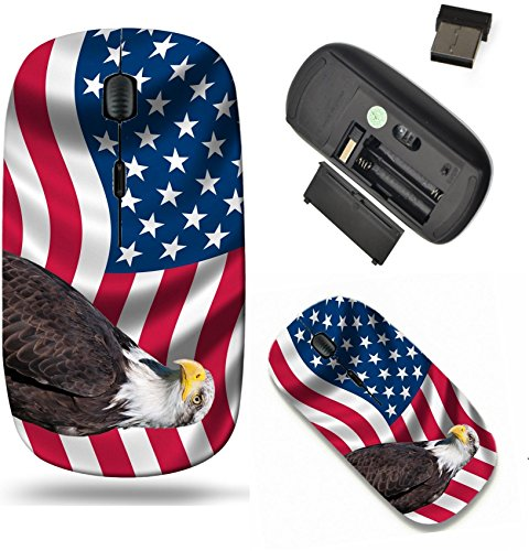 (Liili Wireless Mouse Travel 2.4G Wireless Mice with USB Receiver, Click with 1000 DPI for notebook, pc, laptop, computer, mac book IMAGE ID: 19193645 Patriotic symbol showing the American flag with a)