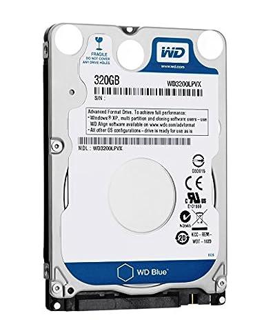 WD Bare Drives 320GB WD Blue SATA III 5400 RPM 8 MB Cache Bulk/OEM Notebook Hard Drive WD3200LPVX (320gb Laptop Hard Drive Sata)