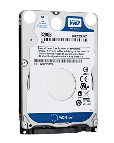 WD  Bare Drives 320GB WD Blue SATA III 5400 RPM 8 MB Cache Bulk/OEM Notebook Hard Drive WD3200LPVX (Sata 8mb Mobile)