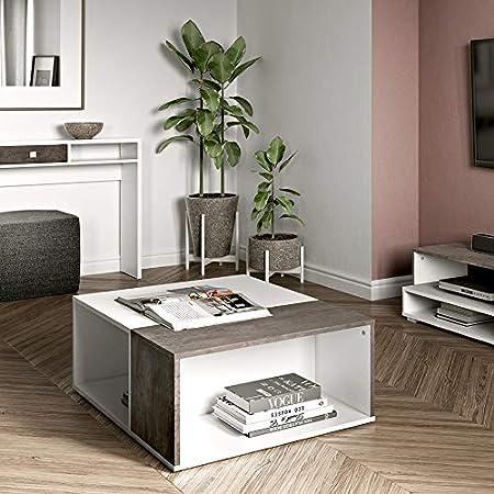 Wood /& Colors Dakota A Bianco//Beige Multicolore 34 x 89 x 67 cm Tavolino