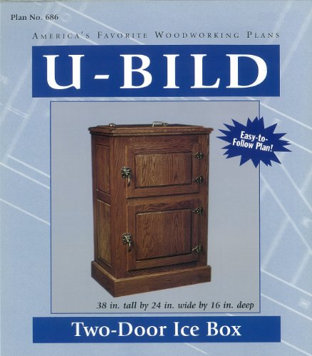 U-Bild 686 Two-Door Ice Box Project Plan, used for sale  Delivered anywhere in USA