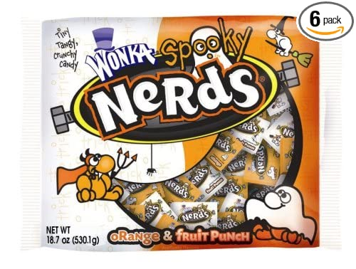 Halloween Nerds Candy.Amazon Com Wonka Nerds Spooky Halloween 18 7 Ounce Packages Pack Of 6 Candy Grocery Gourmet Food