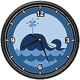 WHALE Wall Clock animals cute ocean sea marine gift