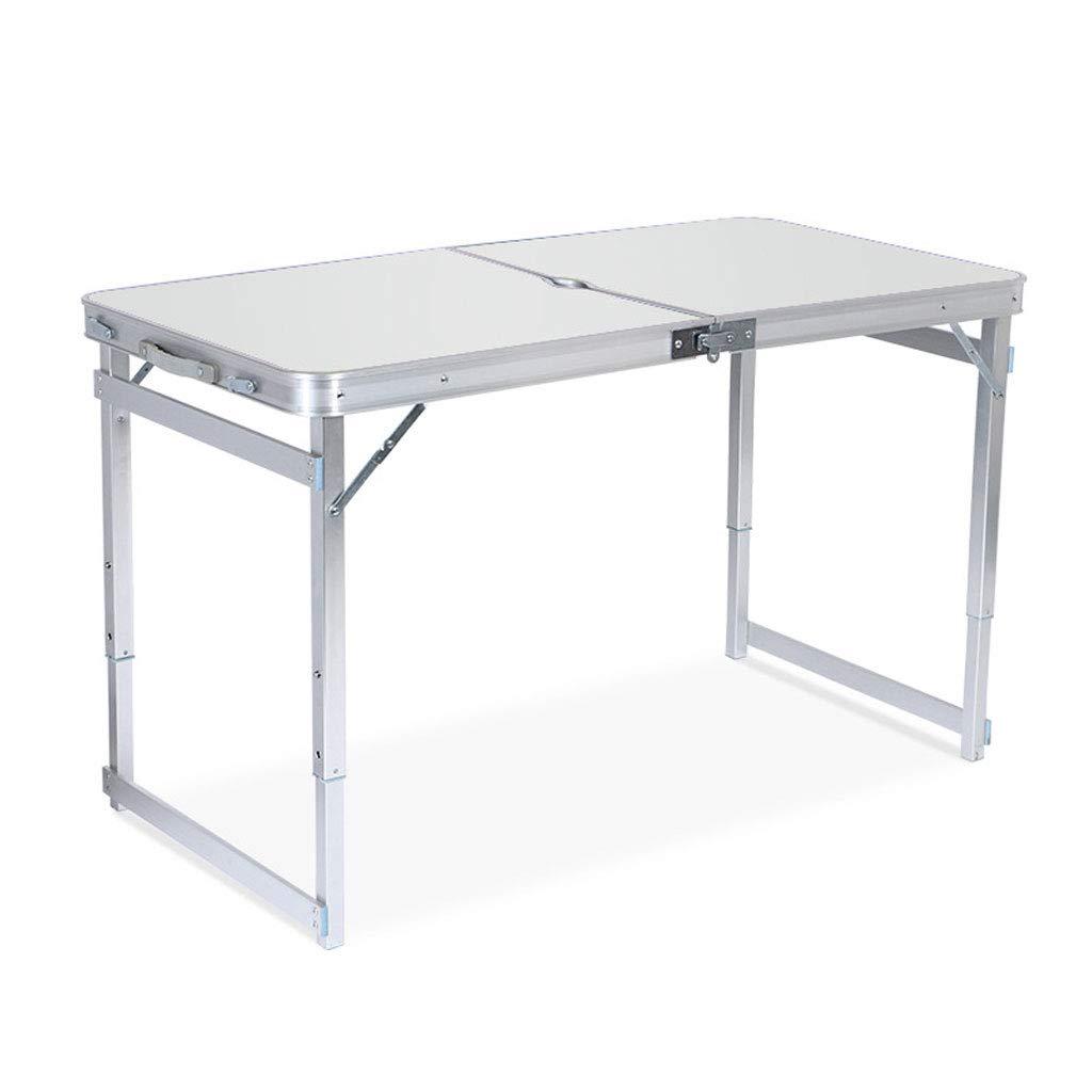 Lxf20 Mesa Plegable Conveniente - Altura Ajustable, Tabla de deformación de Aluminio, Conveniente para Interior y al Aire Libre (Color : Blanco)