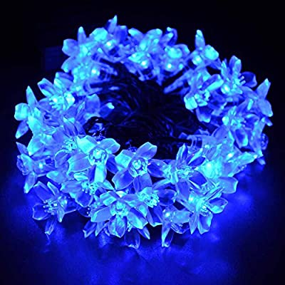 Qedertek Cherry Blossom Solar String Lights