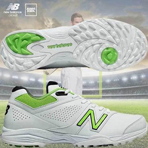 New Balance CK4020 Menâ€s Cricket Shoes, White, UK10.5