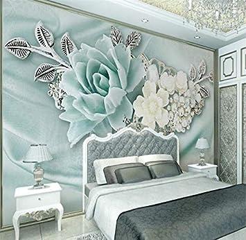 WH-PORP 3D Tapete Wohnzimmer Schlafzimmer Wandbild 3d Mintgrün ...