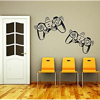 Merveilleux Wall Decals Game Controllers Joystick Gamer Gaming Video Game Kids Children  Gift Nursery Boys Room Wall Vinyl Decal Stickers Bedroom Murals By ...