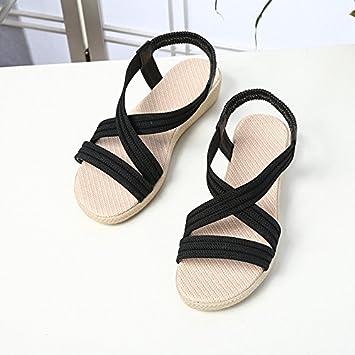 WHLShoes Sandalias Y Chanclas Para Mujer Estudiante Mujer Sandalias Planas De Verano Beach Wear Embarazadas Confortable