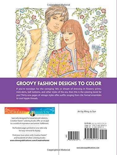 Amazon Creative Haven Fabulous Fashions Of The 1960s Coloring Book Adult 9780486821696 Ming Ju Sun Books