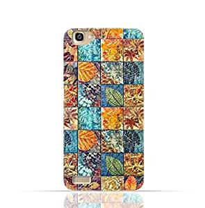 Huawei GR3 TPU Silicone Case With Old Handcraft Tile Pattern Design.
