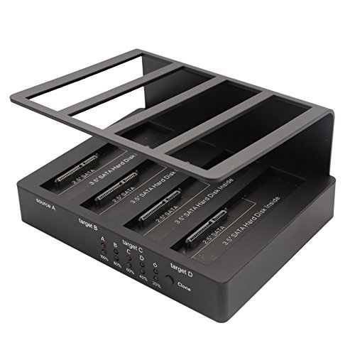 4 Bay Hard Drive Duplicator Docking Station USB 3.0 + eSATA with Clone/Duplicator Function for 2.5/3.5 inch SATA HDD
