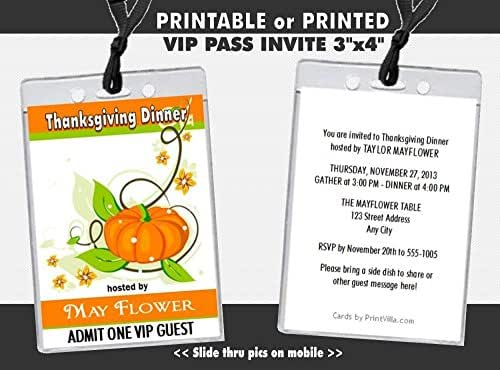 amazon com colors of fall thanksgiving party vip pass invitation