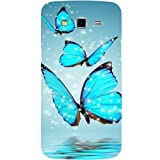 Casotec Flying Butterflies Design Hard Back Case Cover for Samsung Galaxy Grand 2 G7102 / G7105