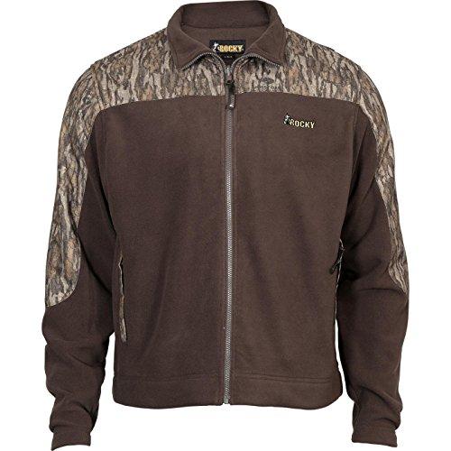 (Rocky Men's Silent Hunter Fleece Jacket, Mossy Oak Blaze Camouflage, Large)