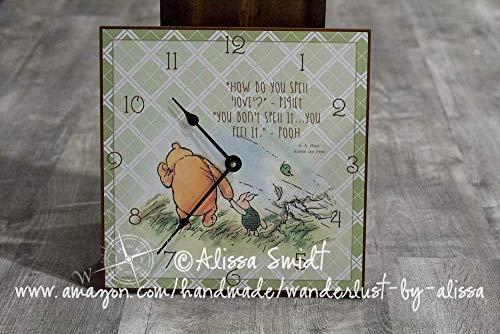(Winnie the Pooh Clock - Custom Wall or Desk Clock)