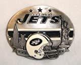 NEW YORK JETS NFL LIMITED EDITION FOOTBALL TEAM BELT BUCKLE BY SISKIYOU