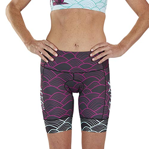 Zoot Women's LTD 8-Inch Tri Shorts - High Performance Triathlon Shorts with 3 Pockets (Aloha '19, Small) ()