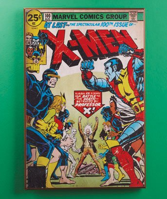 X Men Comic Book Wall Art Decor