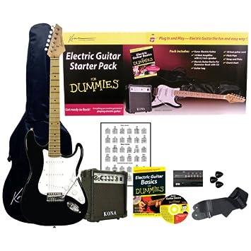Amazon.com: Guitarra Eléctrica for Dummies Bundle: Kona ...