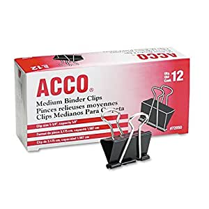 Acco Binder Clips 5/8 In. by ACCO Brands