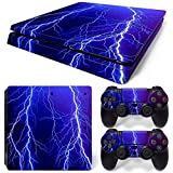 SUKEQ Protective Skin for PS4 Controller, Galaxy Vinyl Sticker Decal Cover for Sony Playstation Console Controller (Galaxy I)